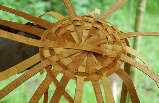 image of cedar bark weaving